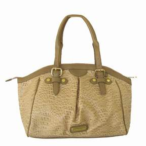 Steve Madden Women 'Btemprly' Croco Satchel Bag, Taupe