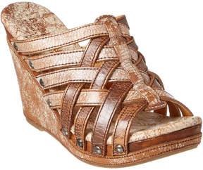 Bed Stu Gina Leather Wedge Sandal