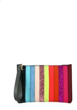 Sophie Hulme Talbot Glitter Rainbow Stripe Pouch