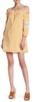 Romeo & Juliet Couture Off-the-Shoulder Gingham Dress