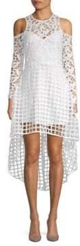 Alexia Admor Lace Cold-Shoulder Hi-Lo Dress