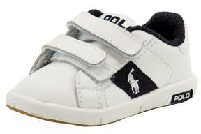 Polo Ralph Lauren Toddler Boy's Serve EZ Fashion White/Navy Sneaker Shoes Sz: 4T