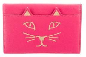 Charlotte Olympia Leather Feline Clutch