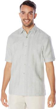 Cubavera Linen Cotton Short Sleeve Multi Pintuck Shirt