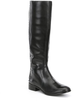 Antonio Melani Pembrookess Braided Back Detail Narrow Calf Riding Boots