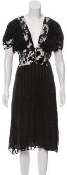 Rodarte Sequin-Embellished Silk Dress w/ Tags