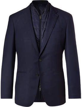 HUGO BOSS Navy Haylen Virgin Wool And Shell Blazer