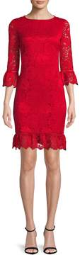 Donna Ricco Women's Solid Lace Dress