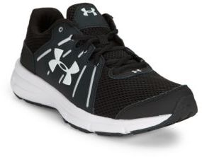 Under Armour Dash Lace-Up Leather and Mesh Sneakers