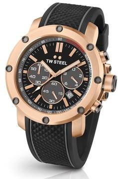 TW Steel Men's Grandeur Tech Silicone Strap Watch, 48Mm