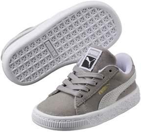 Puma 365073-14: Unisex-Kids Suede Classic Ash White Sneaker (5.5 M US Big Kid)