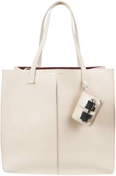 Carven Leather Shopper Bag