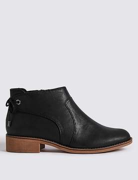 Marks and Spencer Block Heel Tie Back Ankle Boots