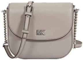 Michael Kors Mott Leather Crossbody - Pearl Grey