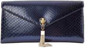 Bulgari Serpenti Blue Python Clutch Bag