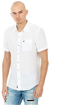 True Religion SHORT SLEEVED LINEN MENS WOVEN SHIRT