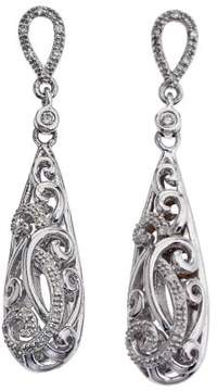 Armani Exchange Jewelry Diamond Drop Earrings in Sterling Silver (0.20 carats, H-I I2)