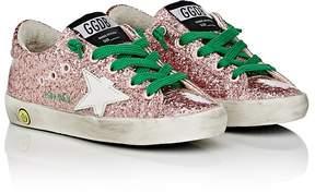 Golden Goose Deluxe Brand Kids' Superstar Laminated Glitter Sneakers