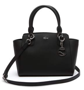Lacoste Women's Daily Classic Gusseted Coated Pique Canvas Tote