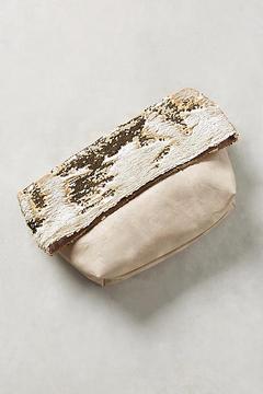 Anthropologie Shimmer Foldover Clutch
