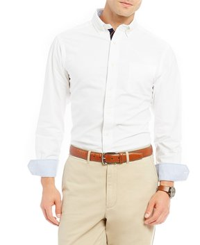 Daniel Cremieux Solid Soft Washed Oxford Long-Sleeve Woven Shirt