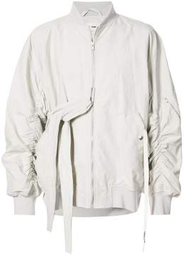 Damir Doma tie fastening and ruched detailed bomber jacker