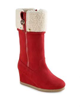 IRO Women's Girl's Faux Suede Wedge Boots