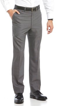 Roundtree & Yorke Flat Front Smart Non Iron Stretch Gab Dress Pant
