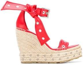Alexander McQueen Eyelet Bow espadrilles sandals