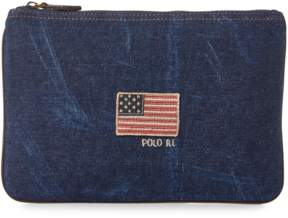 Polo Ralph Lauren Flag Canvas Small Pouch