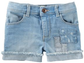 Osh Kosh Girls 4-8 Frayed Cuffed Denim Shorts