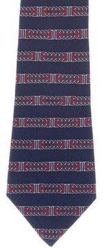 Hermes Silk Stirrup Print Tie