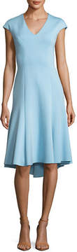 Elie Tahari Moriah Knit V-Neck A-Line Dress