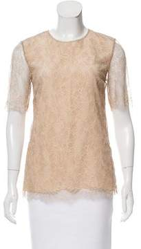 Adam Lace Short Sleeve Top