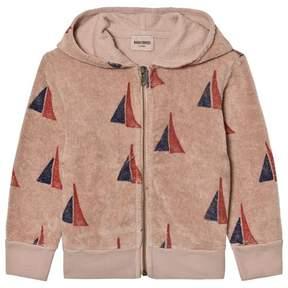 Bobo Choses Soft Pink Sailing Boat Print Hooded Sweatshirt