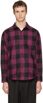 Ami Alexandre Mattiussi Black and Purple Large Check Shirt