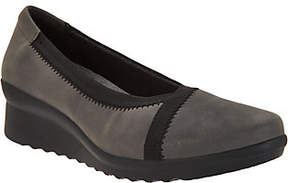 Clarks As Is Cloud Steppers Low Wedge Pumps - Caddell Dash