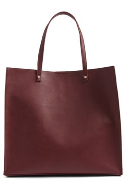 Bp. Faux Leather Tote - Burgundy
