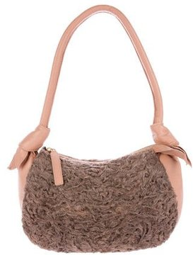 Giuliana Teso Persian Lamb & Leather Bag