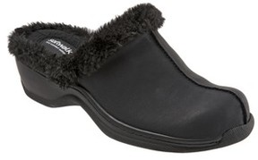 SoftWalk Women's Abigail Clog With Faux Shearling Trim