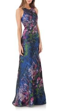 Carmen Marc Valvo Brocade Gown