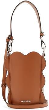 Miu Miu Scallop-edged leather bucket bag