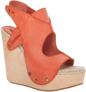 Max Studio Fiore - Hand Burnished Leather Wooden Wedge Sandals