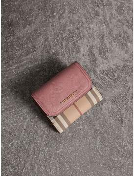Burberry Haymarket Check and Leather Wallet