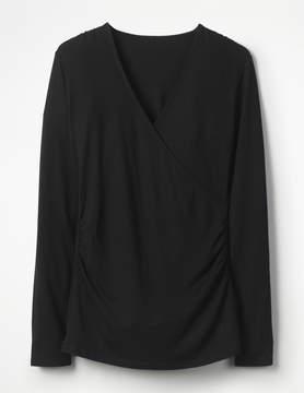 Boden Long Sleeve Wrap Top