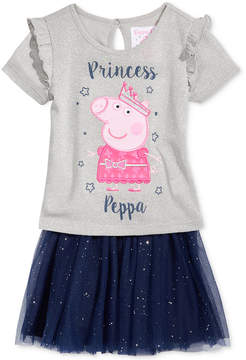 Nickelodeon Nickelodeon's Peppa Pig 2-Pc. T-Shirt & Skirt Set, Toddler Girls (2T-5T)