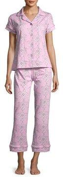 BedHead Painted Damask Short-Sleeve Pajama Set