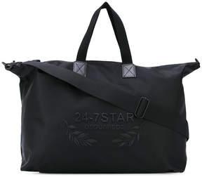 DSQUARED2 logo embroidered holdall bag