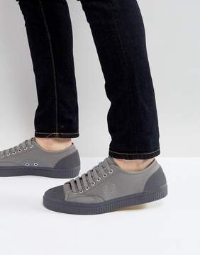 Fred Perry Hughes Shower Resistant Canvas Sneakers in Gray