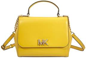 Michael Kors Mott Medium Leather Satchel- Sunflower - ONE COLOR - STYLE